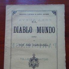 Libros antiguos: EL DIABLO MUNDO, JOSÉ DE ESPRONCEDA, ED SAENZ JUBERA, 1885. Lote 83402008