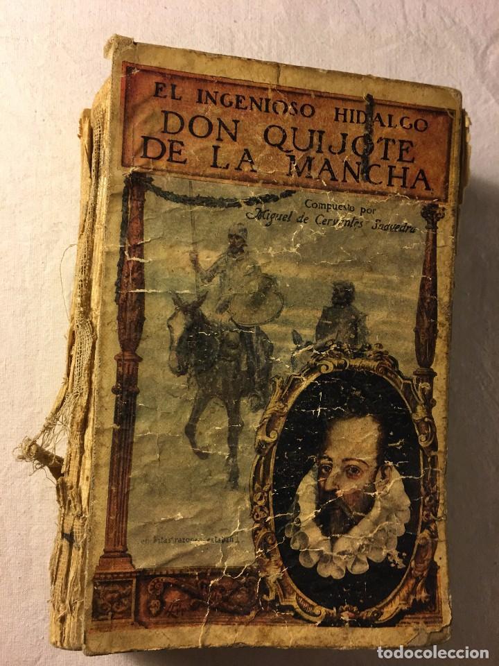 Antiguo libro don quijote de la mancha - Vendido en Venta