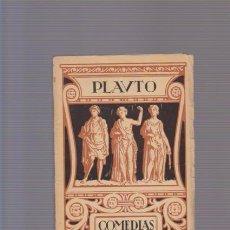 Livres anciens: PLAUTO - COMEDIAS : EPÍDICO - EL PERSA - STICO - TOMO IV - EDITORIAL PROMETEO. Lote 87046388