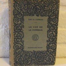 Libros antiguos: LA VOZ DE LA CONSEJA. EMILIO CARRÈRE, NOVELAS BREVES. MÁXIMO RAMOS. UNAMUNO BAROJA, DARÍO. CA 1920. Lote 87219052