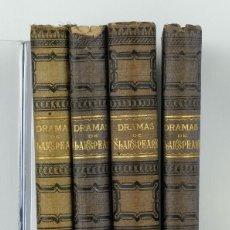 Libros antiguos: DRAMAS DE GUILLERMO SHAKSPEARE, ROMEO Y JULIETA, HAMLET...ED.MAUCCI-4 LIBROS-PS.XX. Lote 87233968