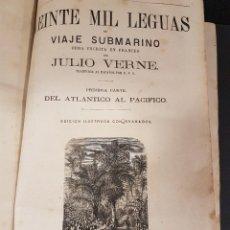 Libros antiguos: OBRAS DE JULIO VERNE,TOMO 2,CON ILUSTRACIONES. Lote 87349848
