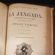 Libros antiguos: OBRAS DE JULIO VERNE VOLUMEN 5,CON ILUSTRACIONES.MADRID 1882. Lote 217088428