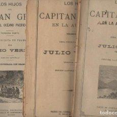 Libros antiguos: JULIO VERNE : LOS HIJOS DEL CAPITÁN GRANT (SÁENZ DE JUBERA, S.F.) TRES CUADERNOS. Lote 87899856