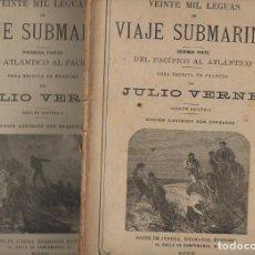 Libros antiguos: JULIO VERNE : VEINTE MIL LEGUAS DE VIAJE SUBMARINO(SÁENZ DE JUBERA, S.F.) DOS CUADERNOS. Lote 87900436