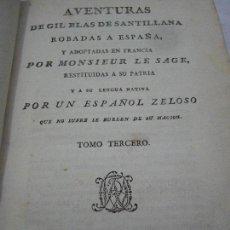 Libros antiguos: AVENTURAS DE GIL BLAS DE SANTILLANA. MONFORT,1792. TOMO III.. Lote 88281780