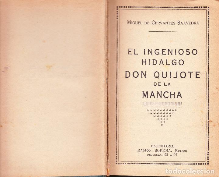 Libros antiguos: EL INGENIOSO IDALGO DON QUIJOTE DE LA MANCHA - Foto 2 - 88901292