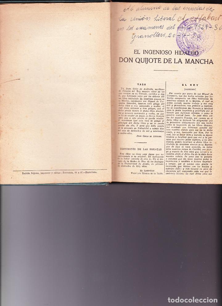 Libros antiguos: EL INGENIOSO IDALGO DON QUIJOTE DE LA MANCHA - Foto 3 - 88901292
