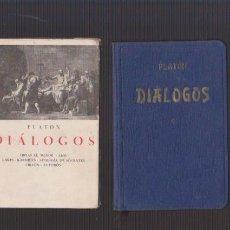 Libros antiguos: PLATON - DIÁLOGOS - LIBRERIA BERGUA 1934. Lote 90032992