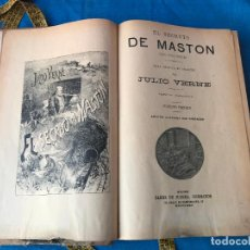 Libros antiguos: OBRAS DE JULIO VERNE ENCUADERNADOS - EDICION ILUSTRADA CON GRABADOS - SAENZ DE JUBERA HERMANOS. Lote 90461484