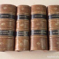 Alte Bücher - OBRAS DE CERVANTES - 4 TOMOS - AÑO 1880-1883 - 90749510