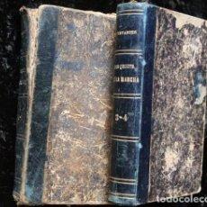 Alte Bücher - 1898 - QUIJOTE - CERVANTES - 4 TOMOS - MUY RARO - ZARAGOZA - LA DERECHA - 90823945