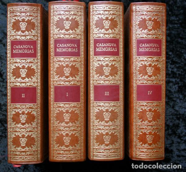 MEMORIAS DE JACOBO CASANOVA DE SEINGALT - 4 TOMOS - BIBLIOFILIA - ILUSTRADA - LIMITADA (Libros antiguos (hasta 1936), raros y curiosos - Literatura - Narrativa - Clásicos)