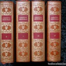 Libros antiguos: MEMORIAS DE JACOBO CASANOVA DE SEINGALT - 4 TOMOS - BIBLIOFILIA - ILUSTRADA - LIMITADA. Lote 90826435
