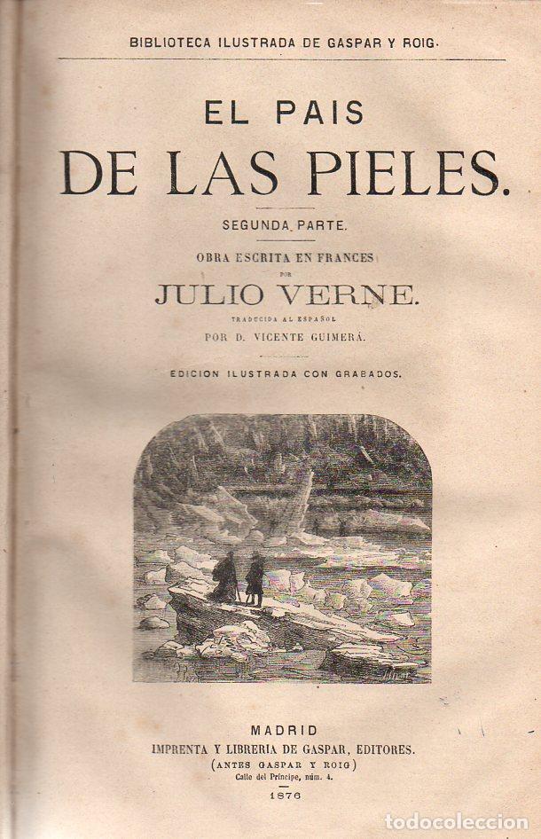 Libros antiguos: OBRAS DE JULIO VERNE (GASPAR Y ROIG / TRILLA Y SERRA, DESDE 1876) CON PRIMERAS EDICIONES -VER LISTA - Foto 12 - 91326775