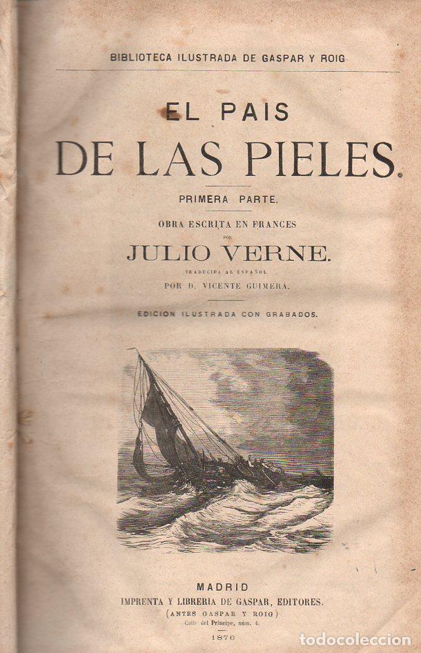 Libros antiguos: OBRAS DE JULIO VERNE (GASPAR Y ROIG / TRILLA Y SERRA, DESDE 1876) CON PRIMERAS EDICIONES -VER LISTA - Foto 13 - 91326775