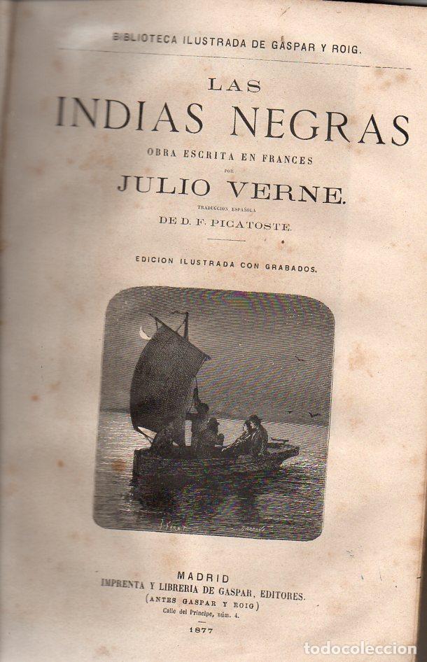 Libros antiguos: OBRAS DE JULIO VERNE (GASPAR Y ROIG / TRILLA Y SERRA, DESDE 1876) CON PRIMERAS EDICIONES -VER LISTA - Foto 14 - 91326775