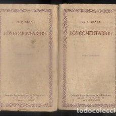 Libros antiguos: LOS COMENTARIOS. LAS CIEN MEJORES OBRAS DE LA LITERATURA UNIVERSAL -VOL. 9 Y 10. 2 TOMOS.- CESAR, J.. Lote 92730990