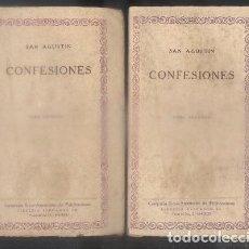 Libros antiguos: CONFESIONES. LAS CIEN MEJORES OBRAS DE LA LITERATURA ESPAÑOLA -VOL. 15 Y 16. 2 TOMOS.- SAN AGUSTIN.. Lote 92731255