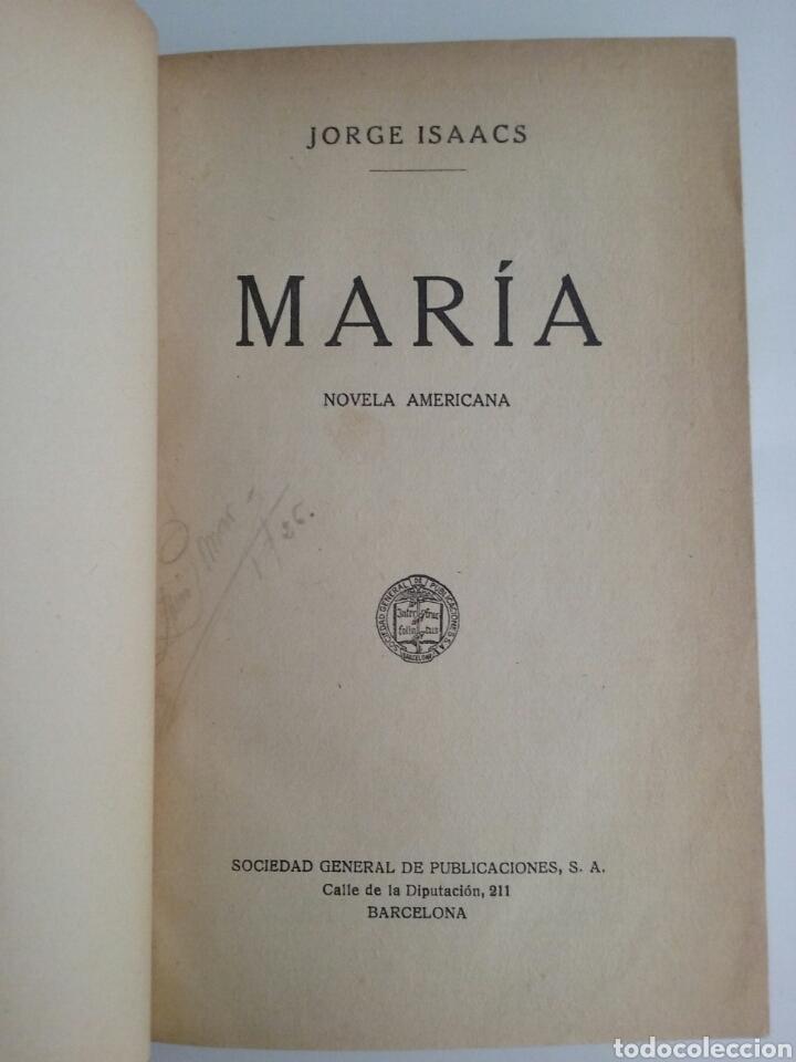 MARÍA NOVELA AMERICANA JORGE ISAACS SOCIEDAD GENERAL DE PUBLICACIONES 1912 (Libros antiguos (hasta 1936), raros y curiosos - Literatura - Narrativa - Clásicos)