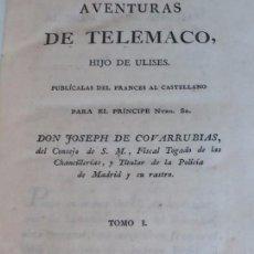 Libros antiguos: AVENTURAS DE TELÉMACO 1797 DOS LIBROS EN UN TOMO COMPLETO IMPRENTA REAL MADRID HIJO ULISES NAIPES. Lote 93165200