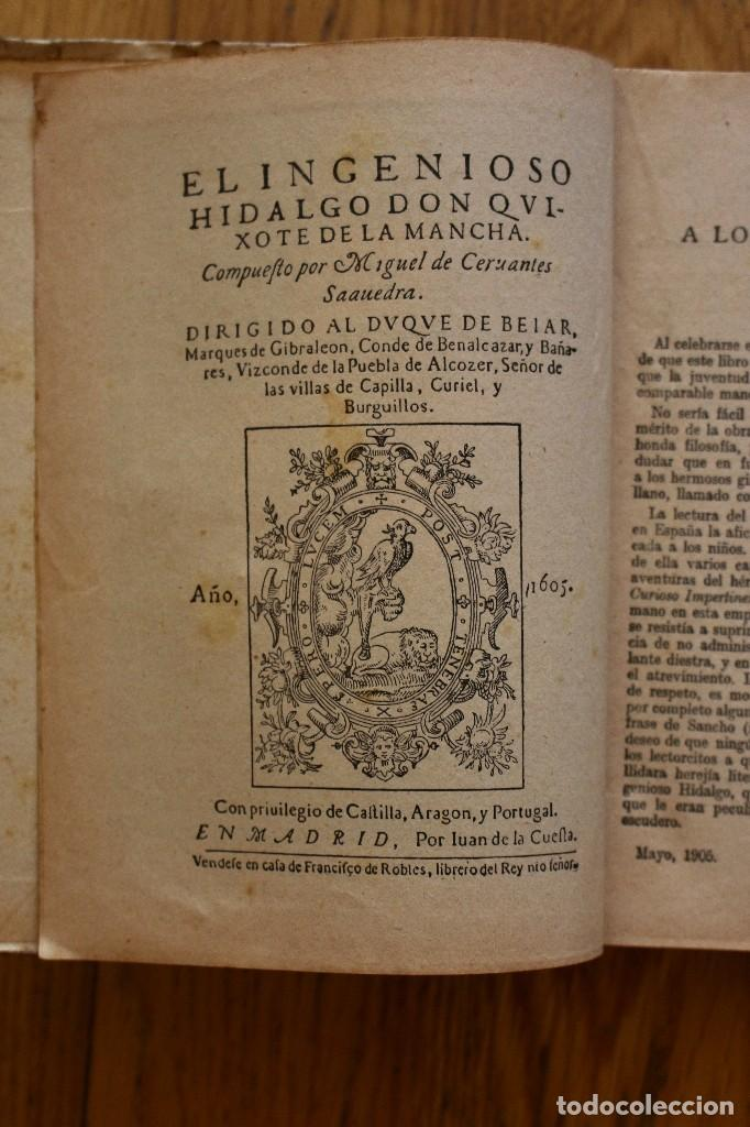 Libros antiguos: MIGUEL DE CERVANTES. DON QUIJOTE DE LA MANCHA. SATURNINO CALLEJA AÑO 1905. - Foto 3 - 93660335