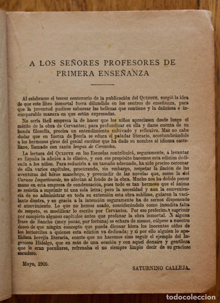 Libros antiguos: MIGUEL DE CERVANTES. DON QUIJOTE DE LA MANCHA. SATURNINO CALLEJA AÑO 1905. - Foto 7 - 93660335