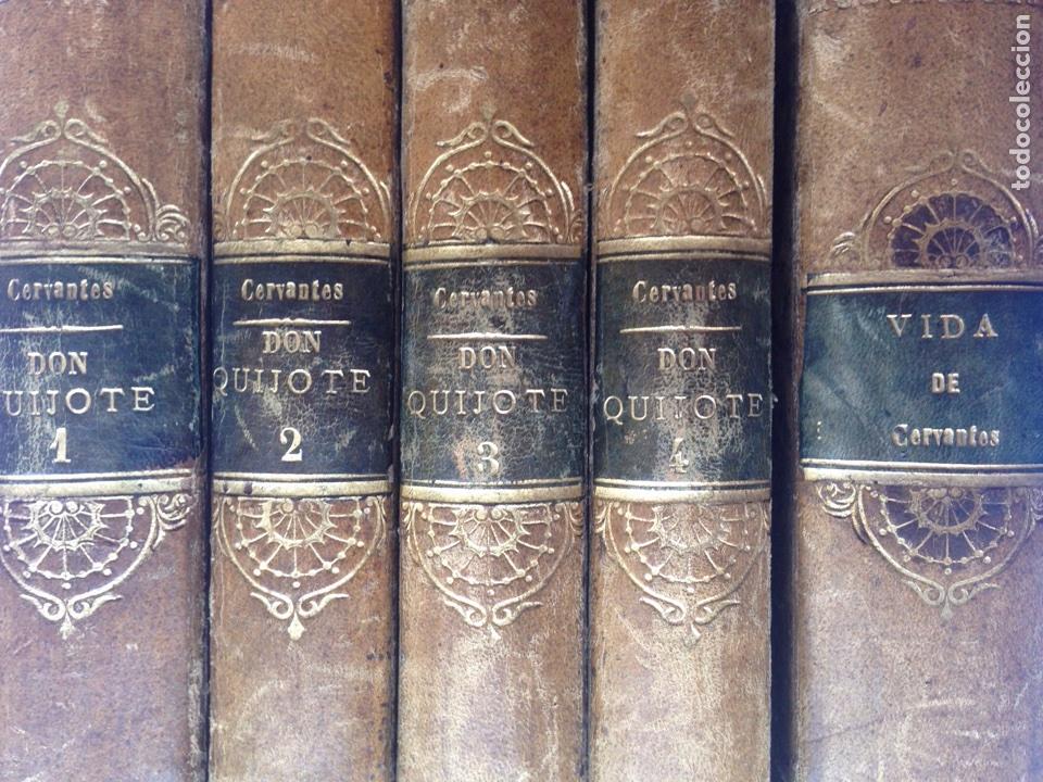 DON QUIJOTE IMPRENTA REAL 1819 CINCO TOMOS (Libros antiguos (hasta 1936), raros y curiosos - Literatura - Narrativa - Clásicos)