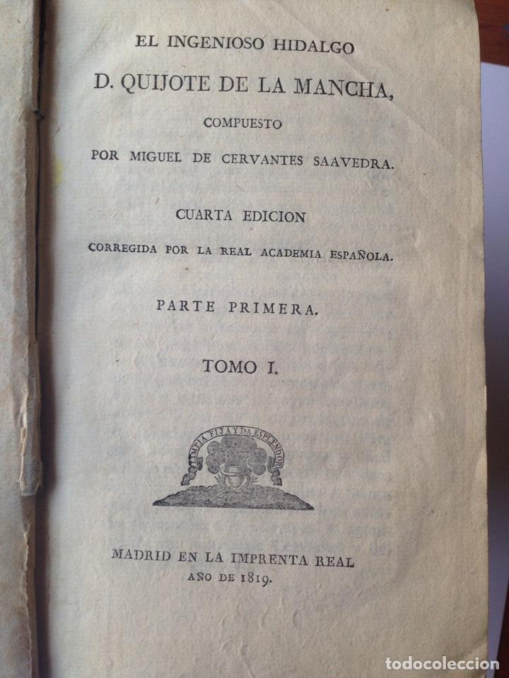 Libros antiguos: Don Quijote imprenta real 1819 cinco tomos - Foto 3 - 93801462