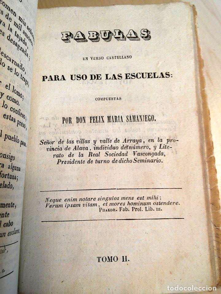 Libros antiguos: 1846 FABULAS EN VERSO CASTELLANO FELIX MARIA SAMANIEGO 2 TOMOS EN 1 VOLUMEN - Foto 5 - 94165845