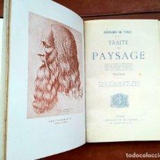 Libros antiguos: LEONARDO DA VINCI, LIBRO AÑO 1910, TRAITE DU PAYSAGE,ILUSTRADO CON SUS DIBUJOS,MUY RARO, EN FRANCES. Lote 94537815