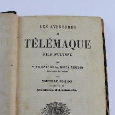 Libros antiguos: L- 4428. LES AVENTURES DE TELEMAQUE, SALIGNAC DE LA MOTHE FENELON. 1880. EN FRANCES.. Lote 95519515