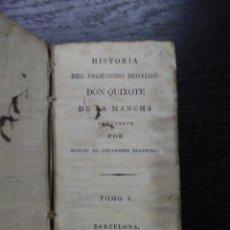Alte Bücher - HISTORIA DEL INGENIOSO HIDALGO DON QUIXOTE DE LA MANCHA, CERVANTES SAAVEDRA, MIGUEL DE, 1814 (VOL.5) - 95553823