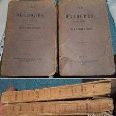 Libros antiguos: 1876 LIBRO DE LOS ORADORES POR TIMON TRADUCCION S. SAENZ DE ROMERO LIBRERIA DE LLORDACHS 2 TOMOS. Lote 95673543