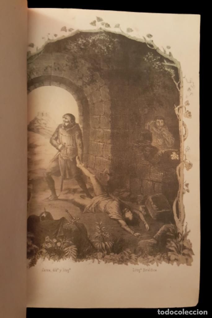 Libros antiguos: el hechicero o el castillo de los siete condes-Ortega y frías.1860, preciosas láminas - Foto 2 - 95682375