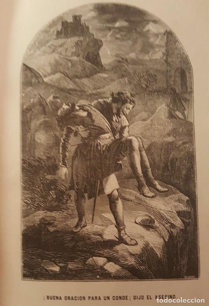 Libros antiguos: el hechicero o el castillo de los siete condes-Ortega y frías.1860, preciosas láminas - Foto 3 - 95682375