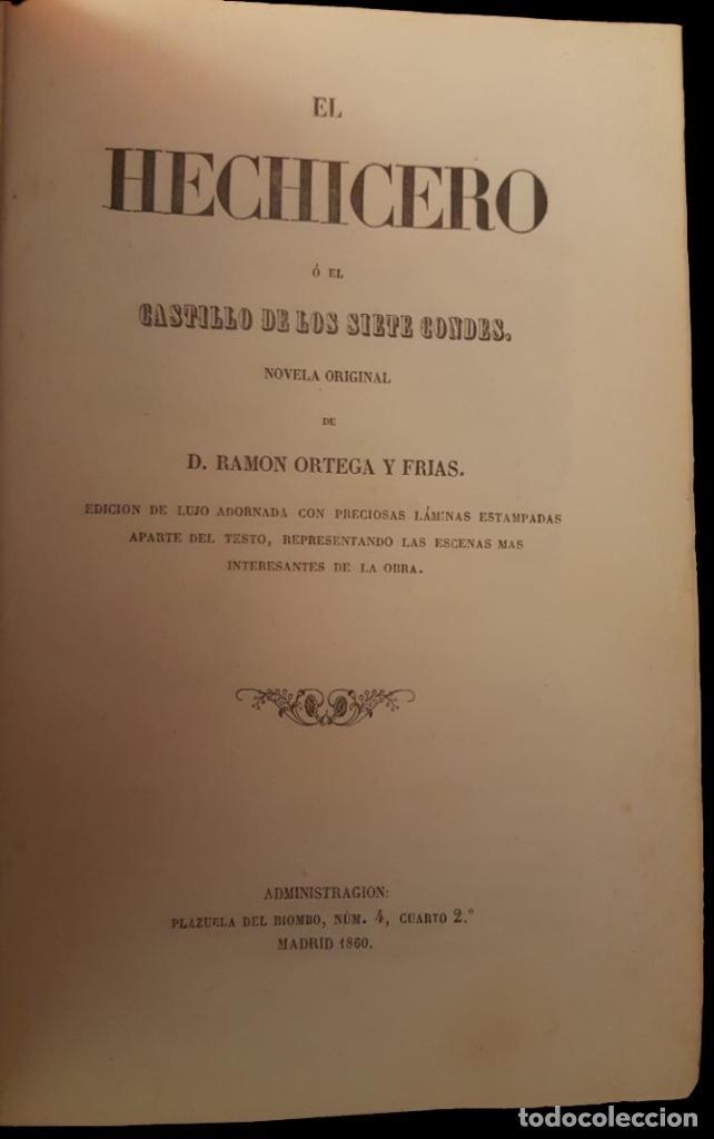 Libros antiguos: el hechicero o el castillo de los siete condes-Ortega y frías.1860, preciosas láminas - Foto 4 - 95682375