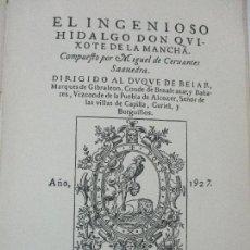 Libros antiguos: EL HINGENIOSO HIDALGO DON QUIJOTE DE LA MANCHA - ED SATURNINO CALLEJA - 2 VOL - COMPLETA - AÑO 1927. Lote 96005031