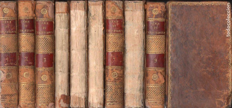 CHATEAUBRIAND : GÉNIE DU CHRISTIANISME (BALLANCHE, LYON, 1809) COMPLETA, 9 TOMOS, EN FRANCÉS (Libros antiguos (hasta 1936), raros y curiosos - Literatura - Narrativa - Clásicos)