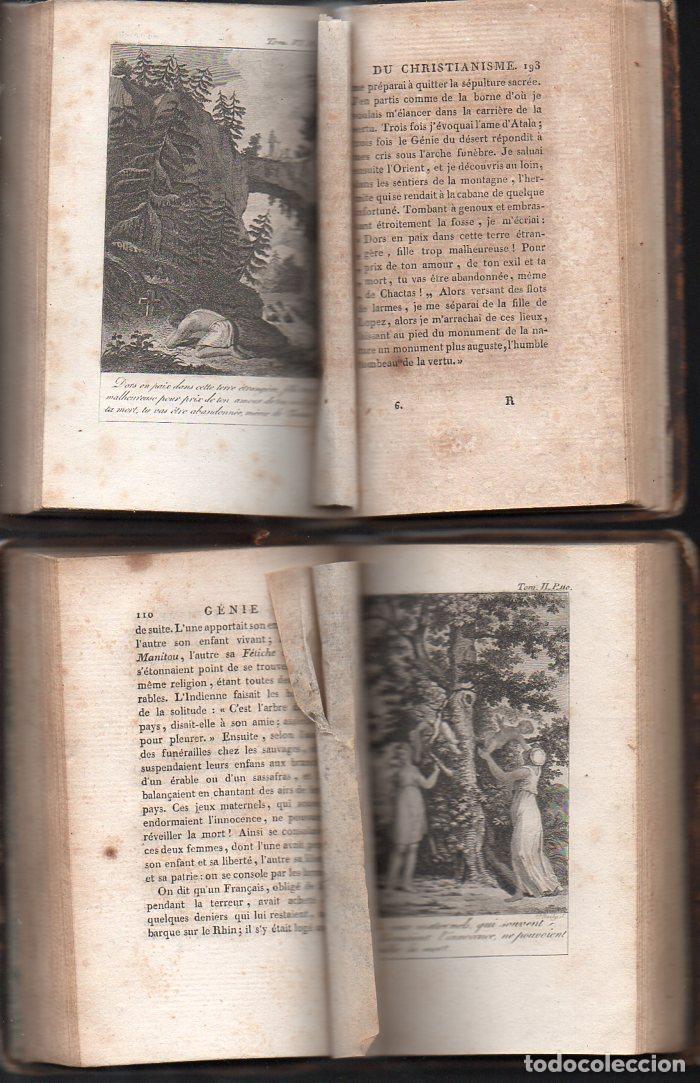 Libros antiguos: CHATEAUBRIAND : GÉNIE DU CHRISTIANISME (BALLANCHE, LYON, 1809) COMPLETA, 9 TOMOS, EN FRANCÉS - Foto 3 - 96531779