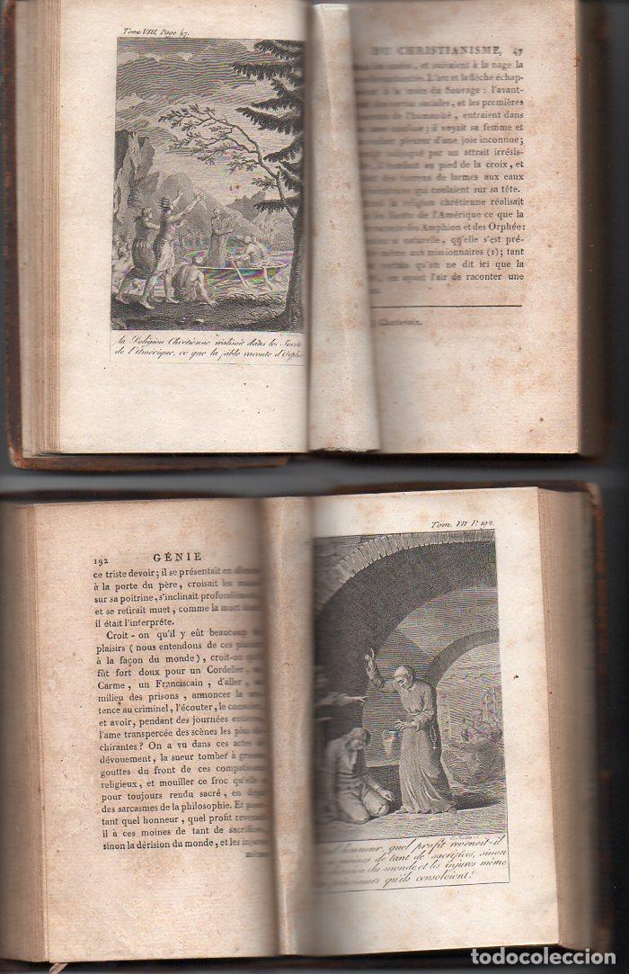 Libros antiguos: CHATEAUBRIAND : GÉNIE DU CHRISTIANISME (BALLANCHE, LYON, 1809) COMPLETA, 9 TOMOS, EN FRANCÉS - Foto 4 - 96531779