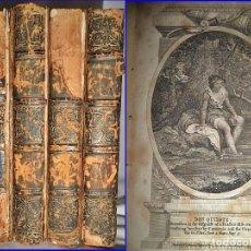 Libros antiguos: DON QUIJOTE DE LA MANCHA. 4 TOMOS ILUSTRADOS EDITADOS EN LONDRES. SIGLO XVIII?. Lote 96546951