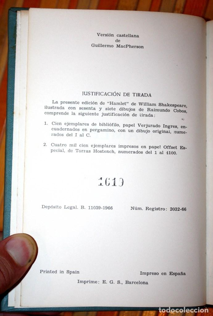 Libros antiguos: hamlet - william shakespeare - ediciones marte edición limitada numerada nº 1619 - CLB - Foto 4 - 97398039
