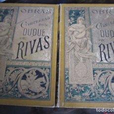 Libros antiguos: OBRAS COMPLETAS DEL DUQUE DE RICAS. 2 TOMOS. ILUSTRADOS CON DIBUJOS DE D. APELES MESTRES Y D. J. LUI. Lote 98041867