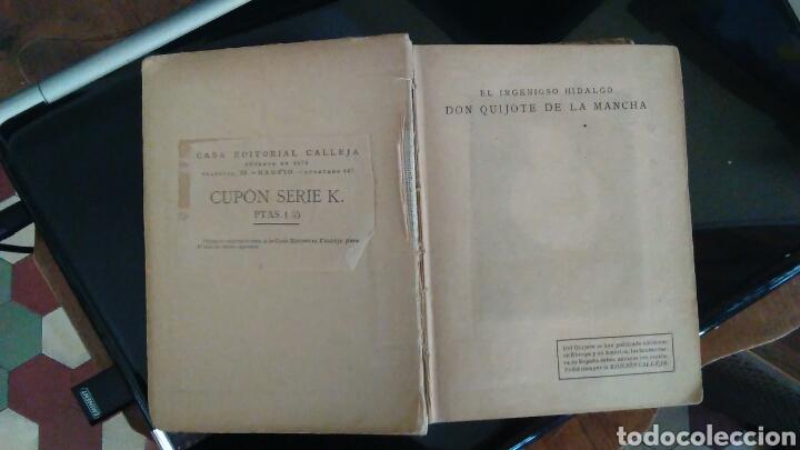 Libros antiguos: DON QUIJOTE DE LA MANCHA, EDITORIAL CALLEJA,MADRID 1905 - Foto 4 - 98346310