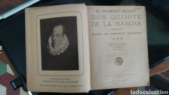 Libros antiguos: DON QUIJOTE DE LA MANCHA, EDITORIAL CALLEJA,MADRID 1905 - Foto 5 - 98346310