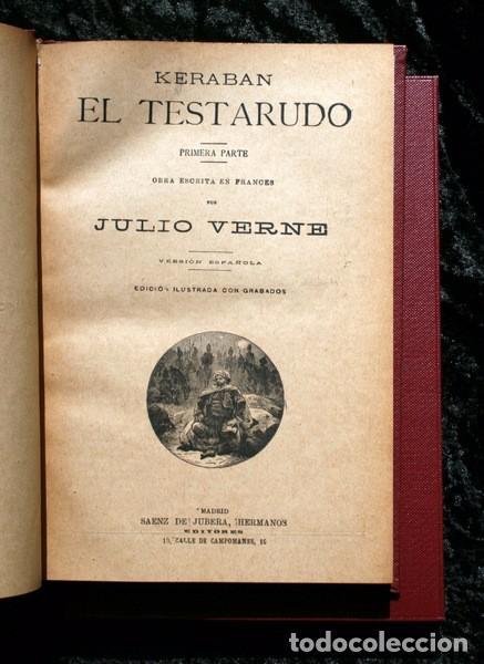 Libros antiguos: JULIO VERNE - ANTIGUO -GRABADOS - KERABAN EL TESTARUDO / MISTRESS BRANICAN / BILLETE DE LOTERIA - G - Foto 2 - 98358995
