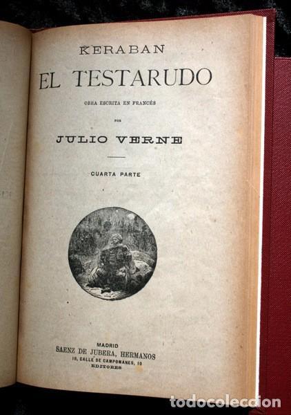 Libros antiguos: JULIO VERNE - ANTIGUO -GRABADOS - KERABAN EL TESTARUDO / MISTRESS BRANICAN / BILLETE DE LOTERIA - G - Foto 3 - 98358995