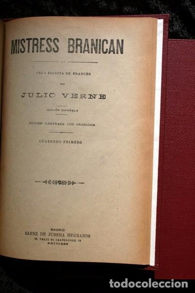 Libros antiguos: JULIO VERNE - ANTIGUO -GRABADOS - KERABAN EL TESTARUDO / MISTRESS BRANICAN / BILLETE DE LOTERIA - G - Foto 7 - 98358995