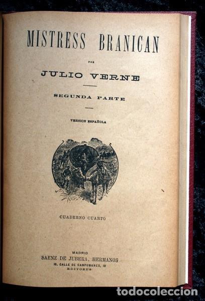 Libros antiguos: JULIO VERNE - ANTIGUO -GRABADOS - KERABAN EL TESTARUDO / MISTRESS BRANICAN / BILLETE DE LOTERIA - G - Foto 8 - 98358995